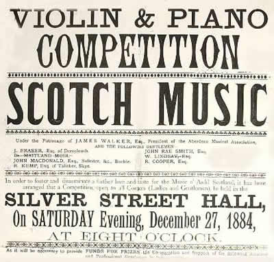violin and piano competition poster