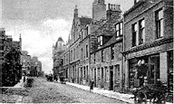 Marischal Street, late 1800s,  Looking eastward, the towering Music Hall can be seen distant right. courtesy Arbuthnot Museum