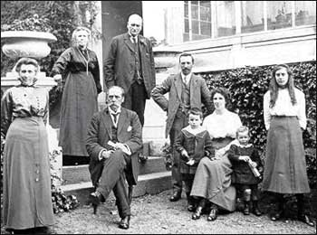 The Wilson family and friends at South Colleonard, c1914